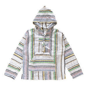 Men's Baja - Large White Fluro Stripe