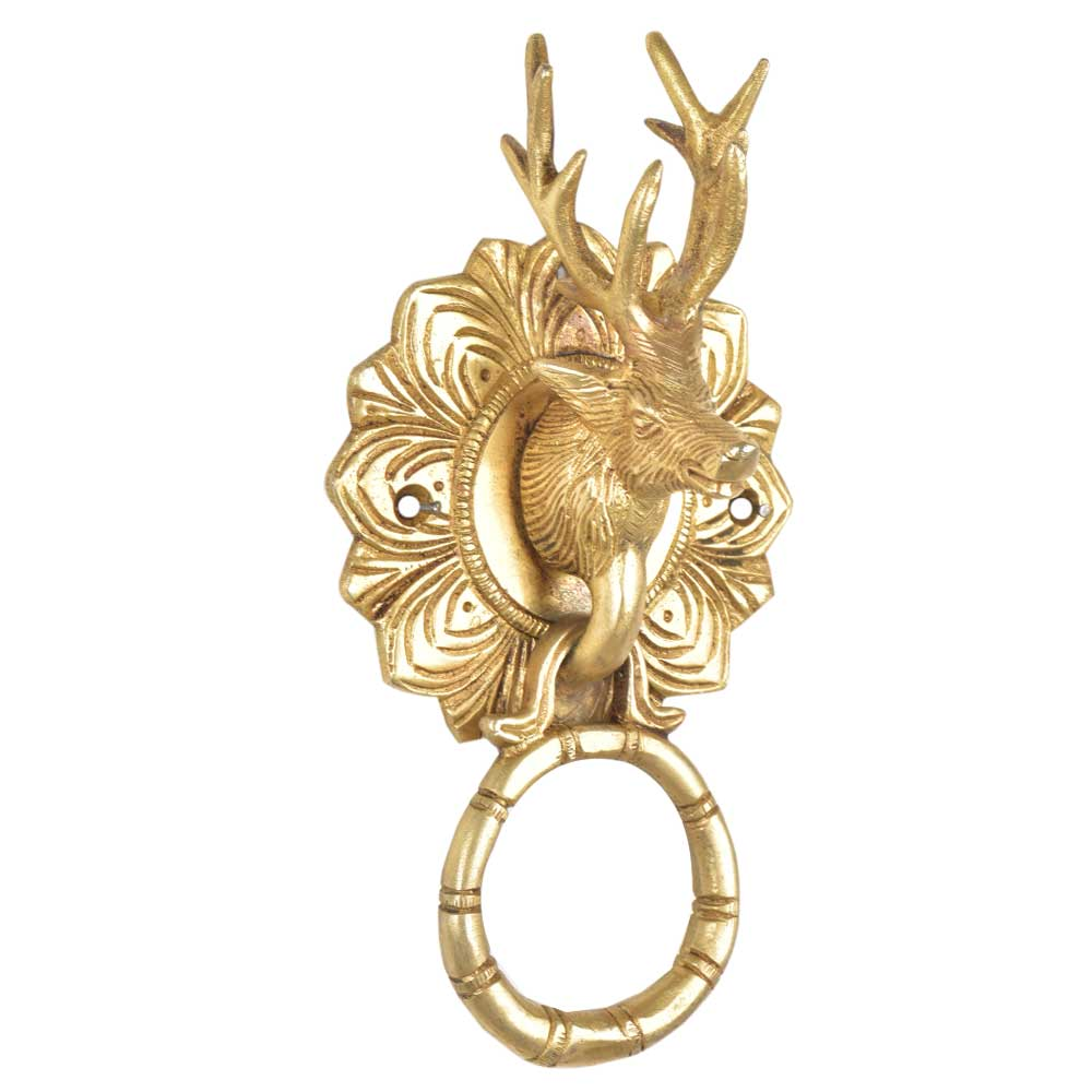 Brass Deer Door Knocker