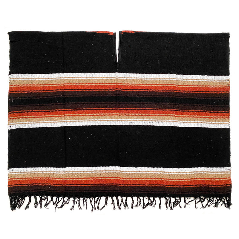 Poncho - Diamond - Black & Rust