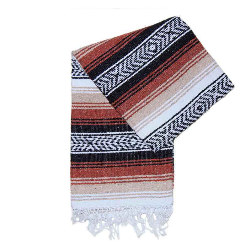 Fancy Falsa Blanket - White & Rust
