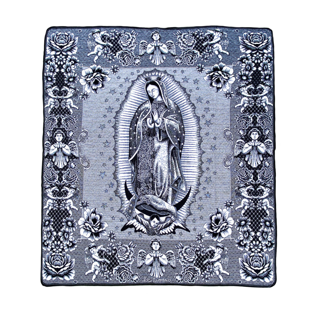 Guadalupe Blanket - Black & White
