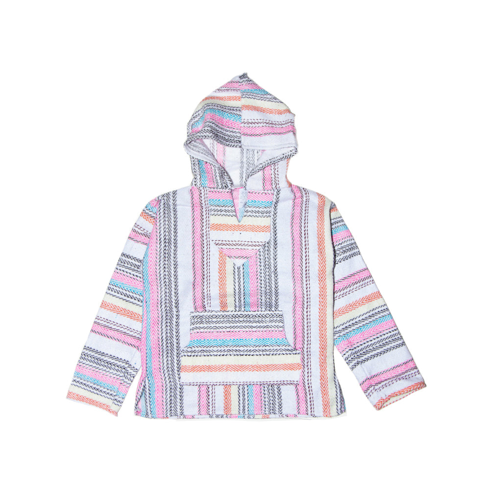 Kids Baja - Medium White & Pink Stripe