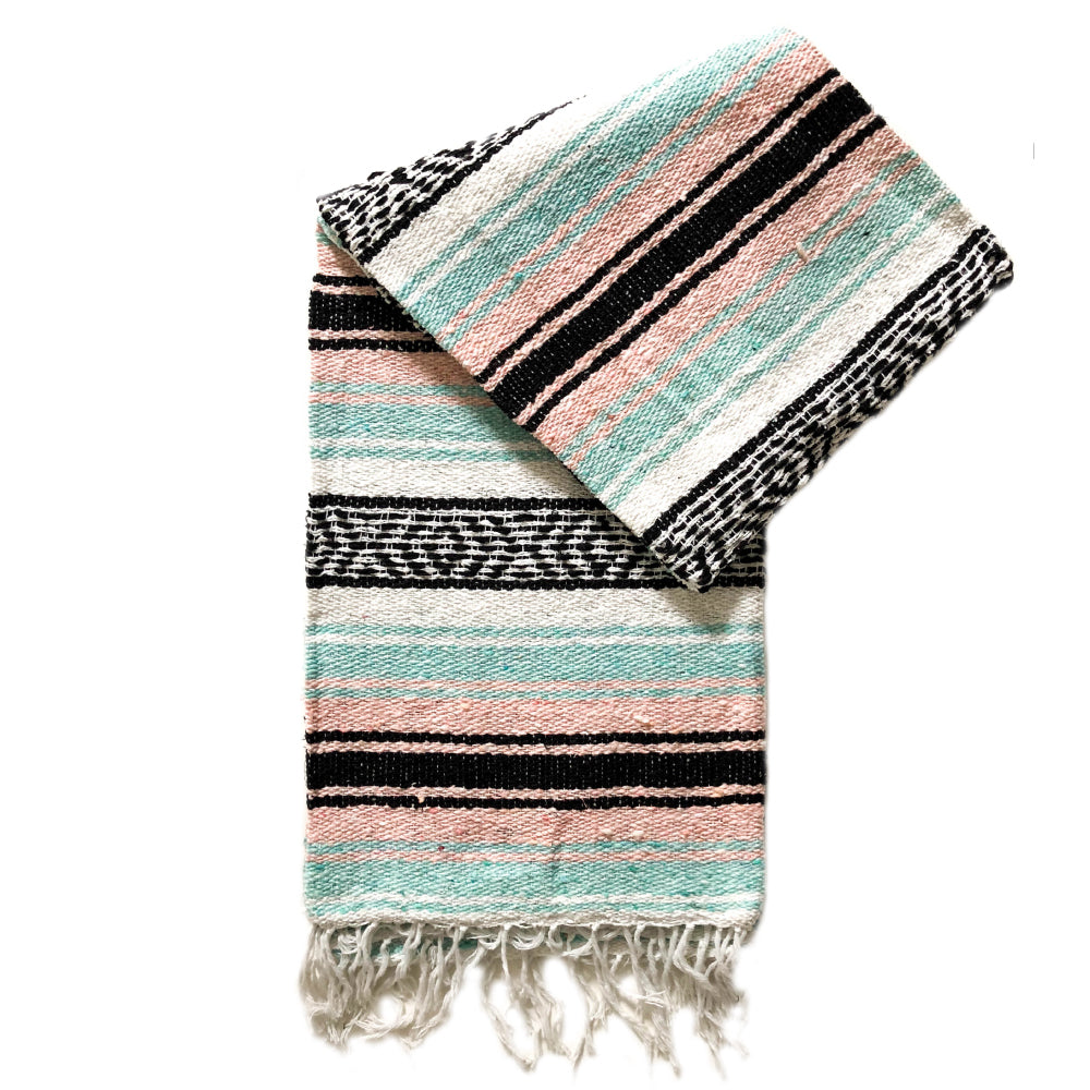 Small Falsa Blanket - Pastel Baby Pink & Mint