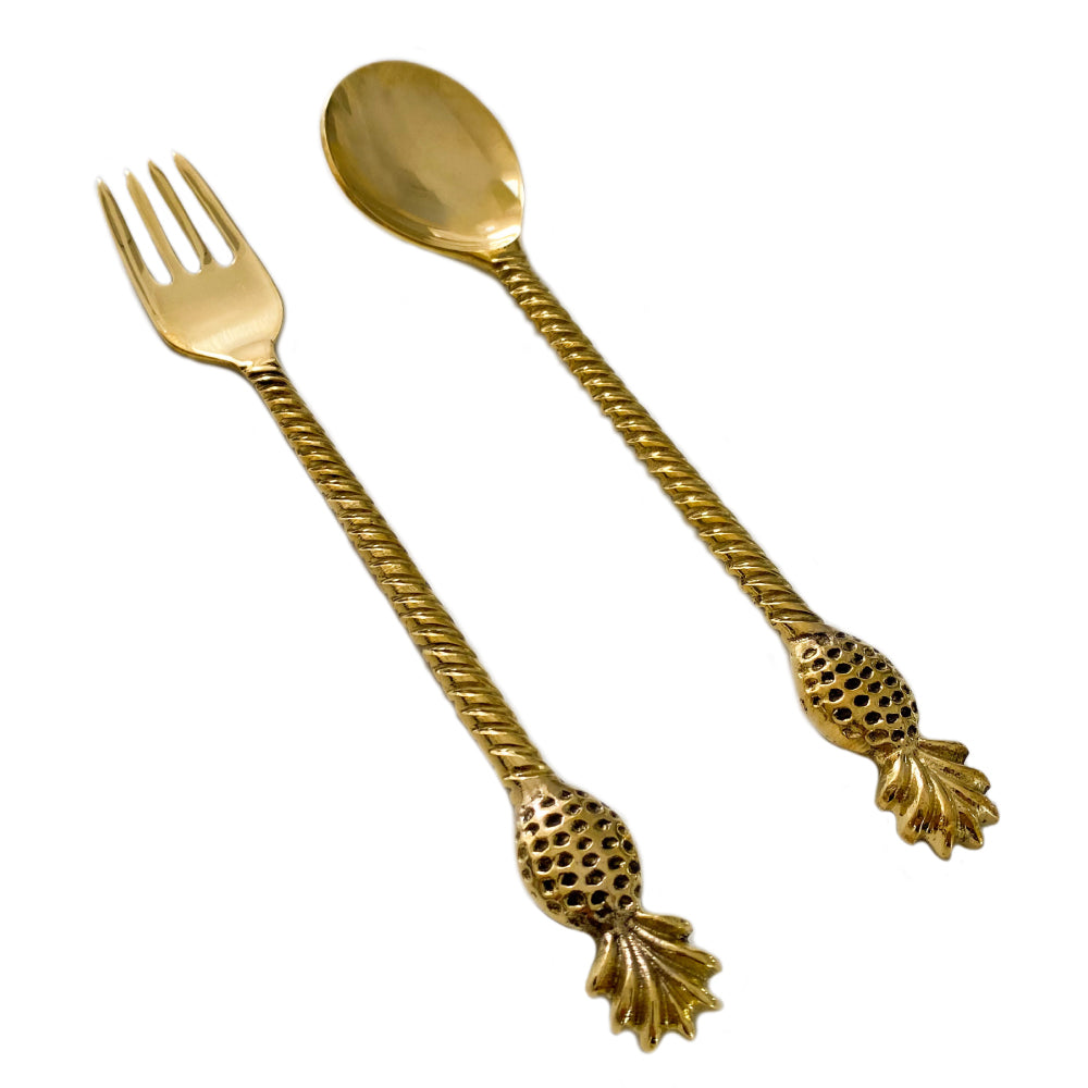 Brass Pineapple Servers