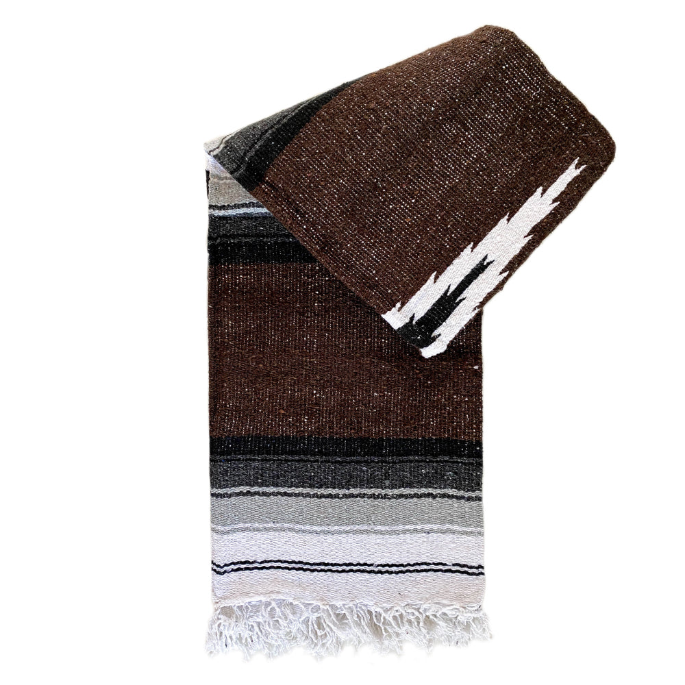 Valley Diamond Blanket - Dark Brown