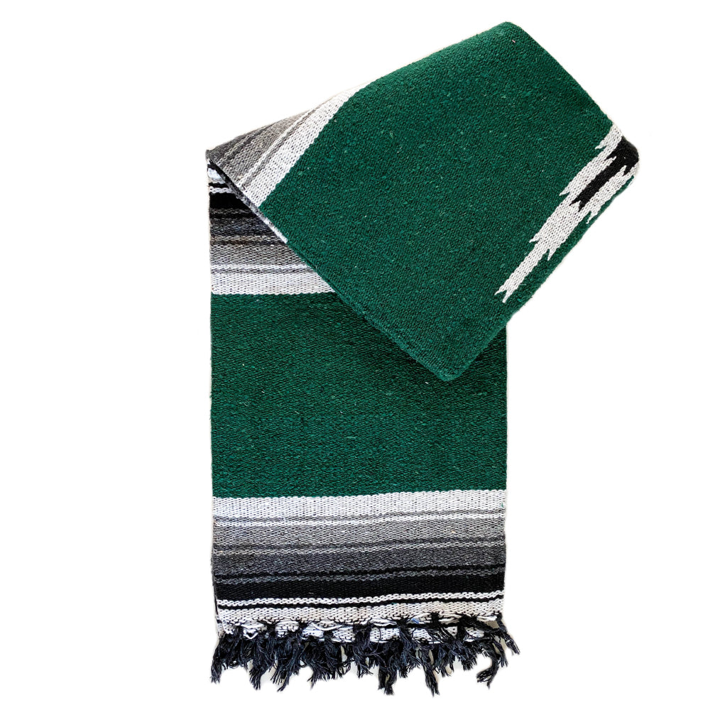 Valley Diamond Blanket - Forest Green