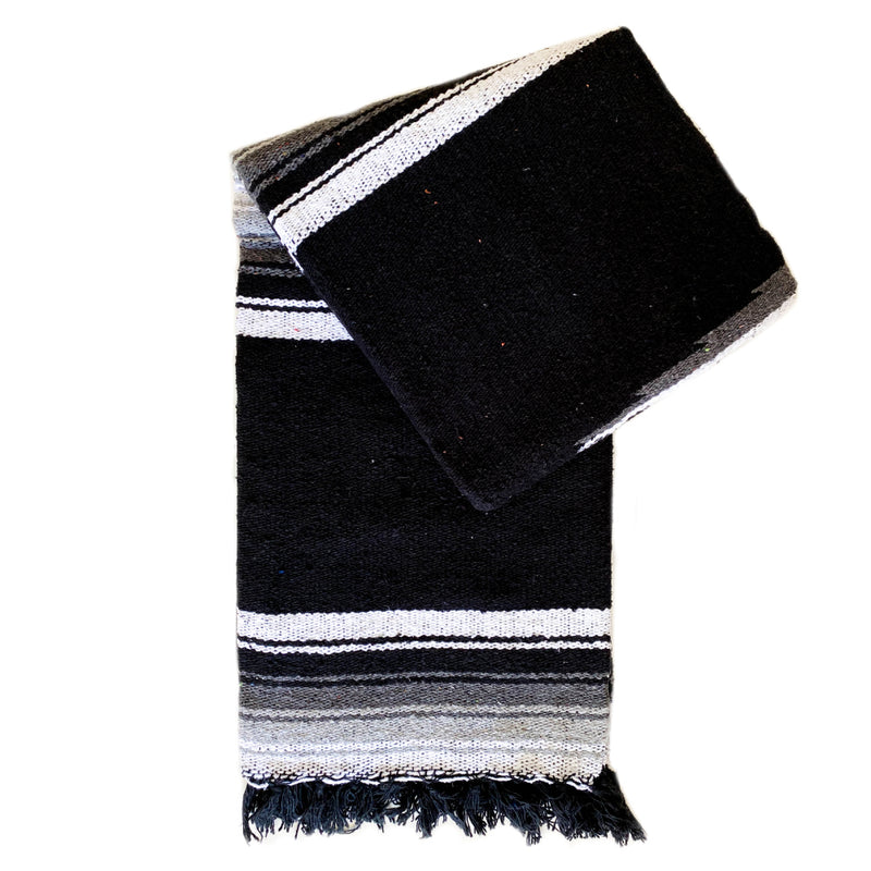 Valley Diamond Blanket - Black