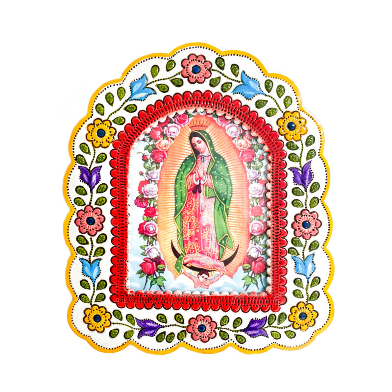 Tin Framed Guadalupe
