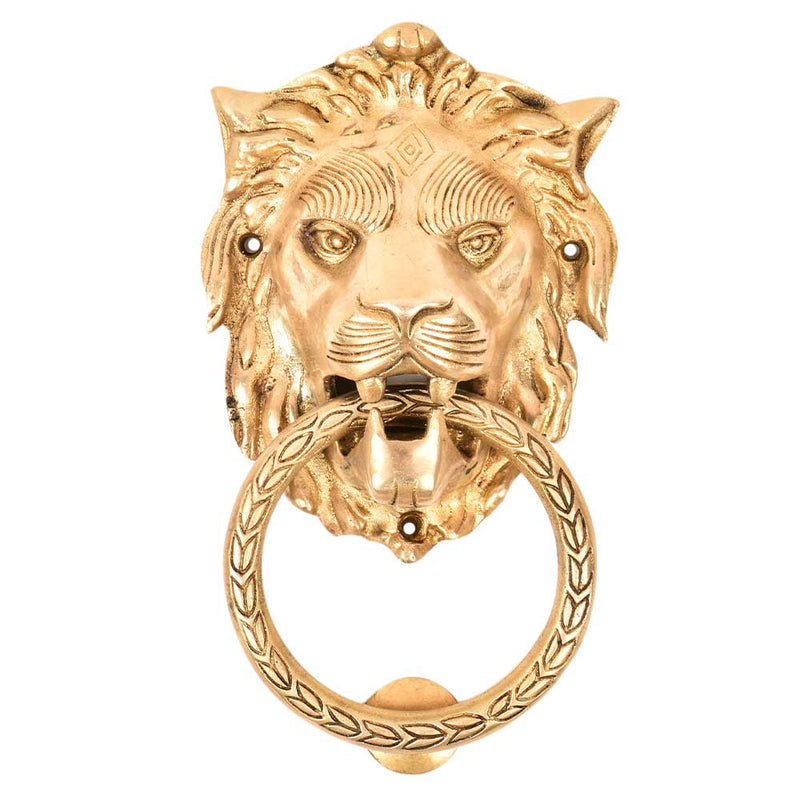 X-Large Brass Lion Door Knocker