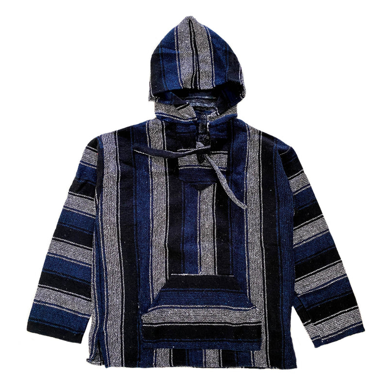 Men's Baja - XLarge Black & Blue Stripe