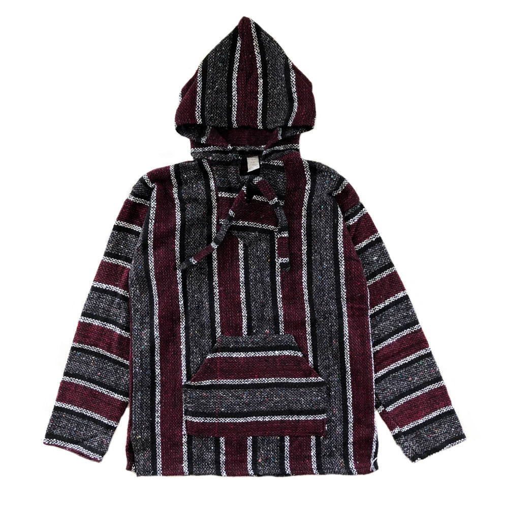 Men's Baja - Large Burgundy & Grey