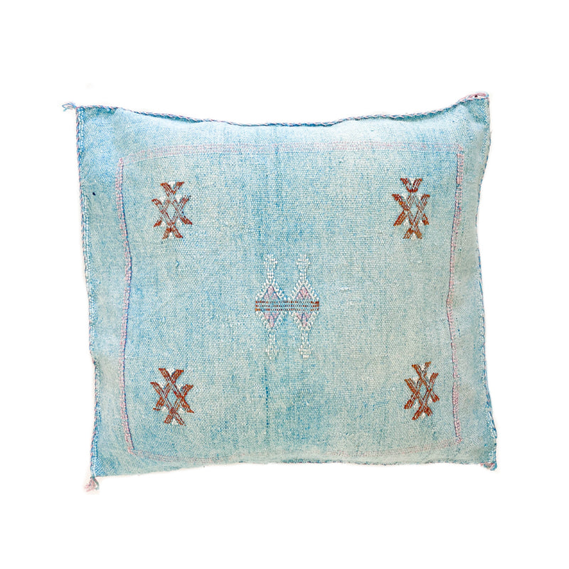 Cactus Silk Cushions - Light Blue 5
