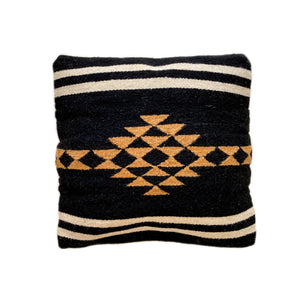 Zapotec Rombo Black Cushion