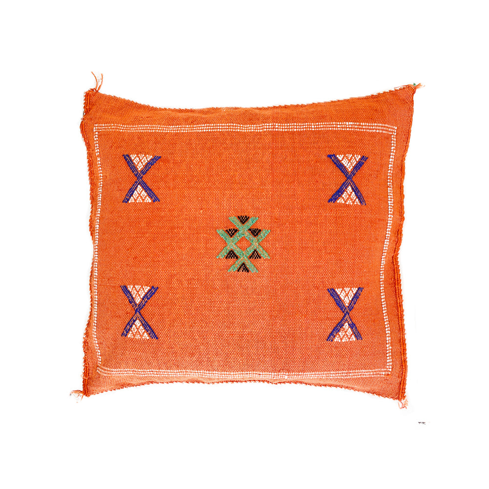 Cactus Silk Cushions - Orange 2