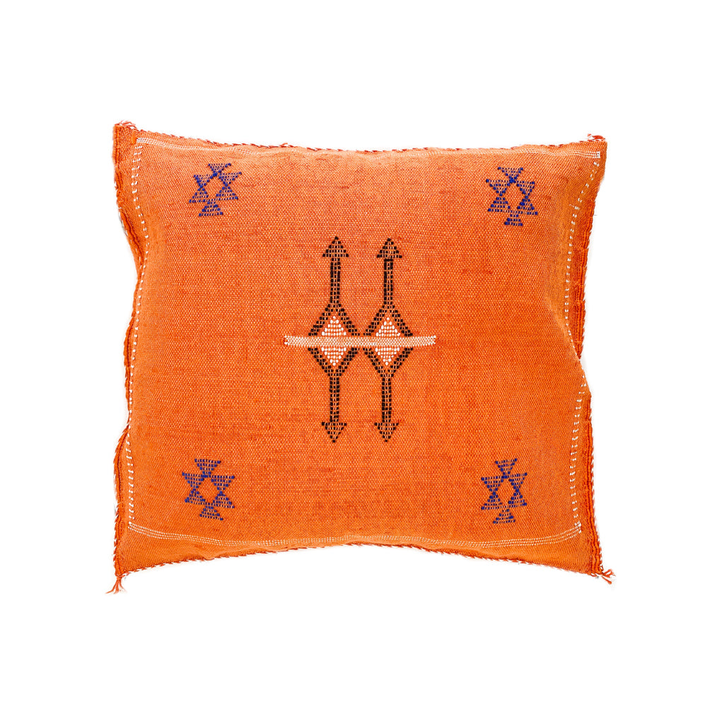 Cactus Silk Cushions - Orange 3