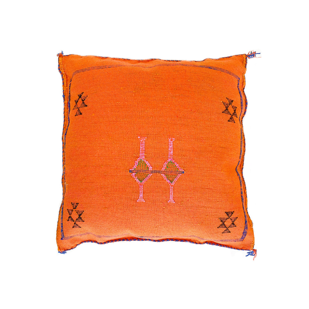 Cactus Silk Cushions - Orange 4