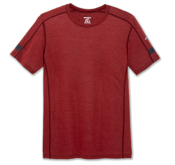 Distance Short Sleeve Top Heather Jasper /Asphalt- Mens