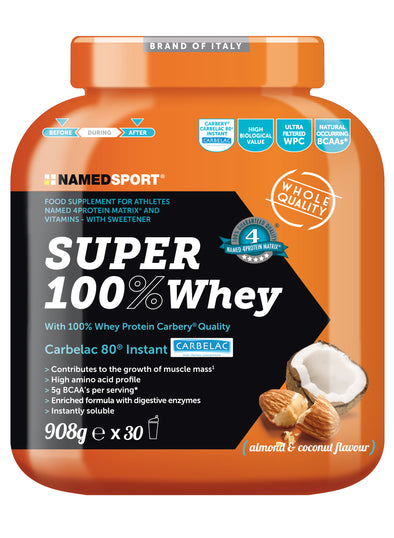 Super 100% Whey Almond & Coconut 908g