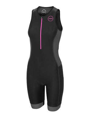 Womens Aquaflo Plus Trisuit Bk/Pk