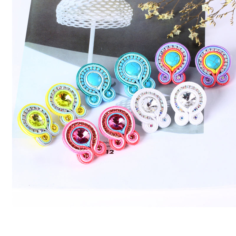 Light Luxury Soutache Earring for women- SkyBlue Color