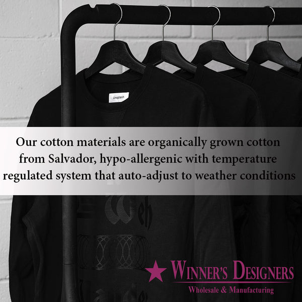 Supreme Quality Materials, Organically Grown Cottons for Manufacturing the Garments