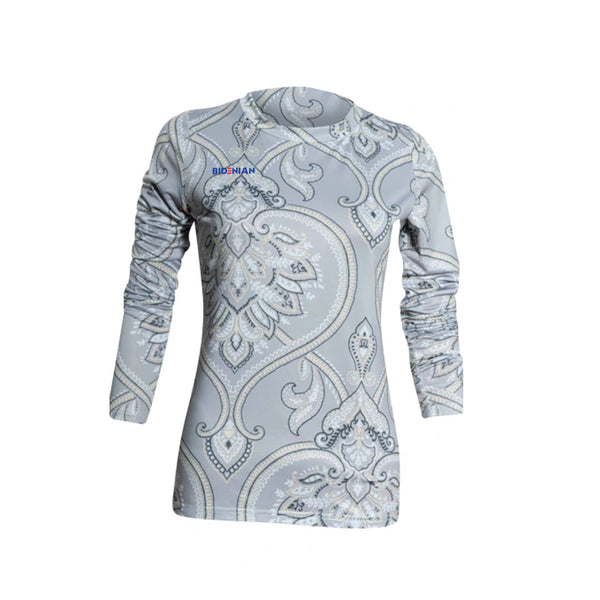 Rapheeze Gray Paisley Designer Bodycon