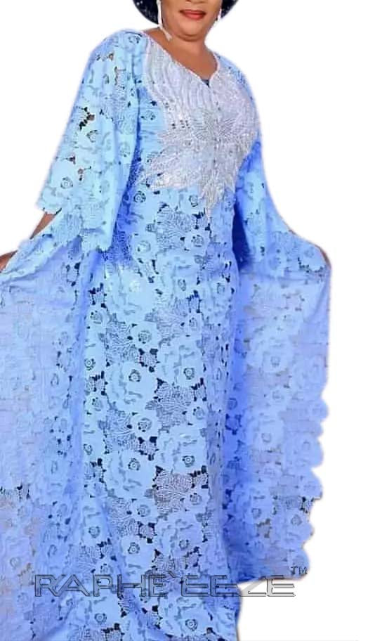 Amazing Trendy Designed Long Party Gown Maxi Style Sky Blue Color  - 1 pcs with S, M, L, XL size
