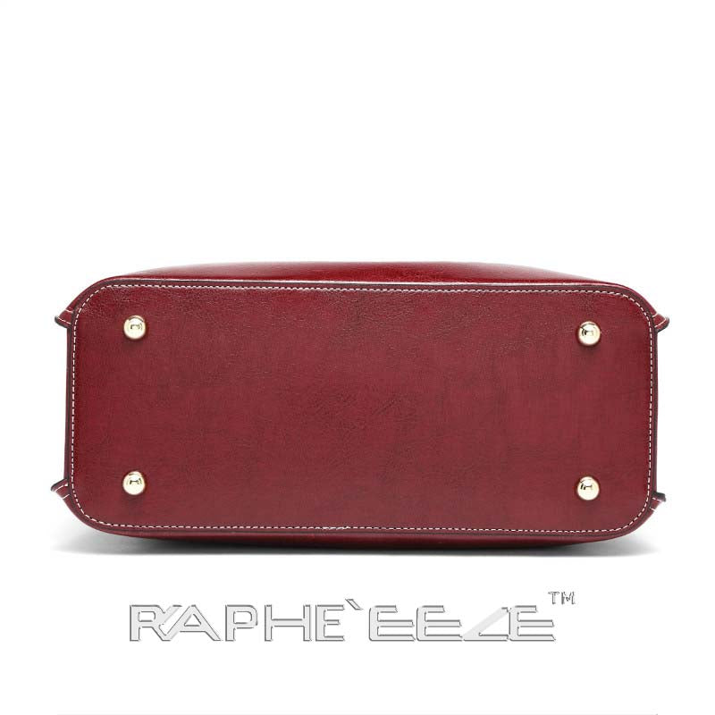 Stylish Tweed Bags for Women - Wine Red