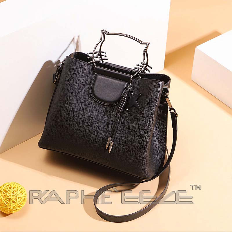 Elegant Classic Designed Handbag for Woman - Classic Black Color