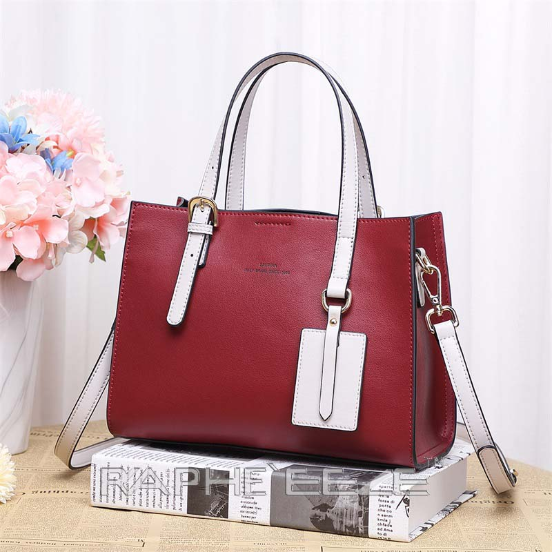 Unique Designed Stylish Tote Bag for Women - Wine Red