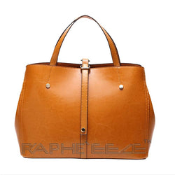 Stylish & Elegant Tote Handbag Purses for Women - Leather Brown Color