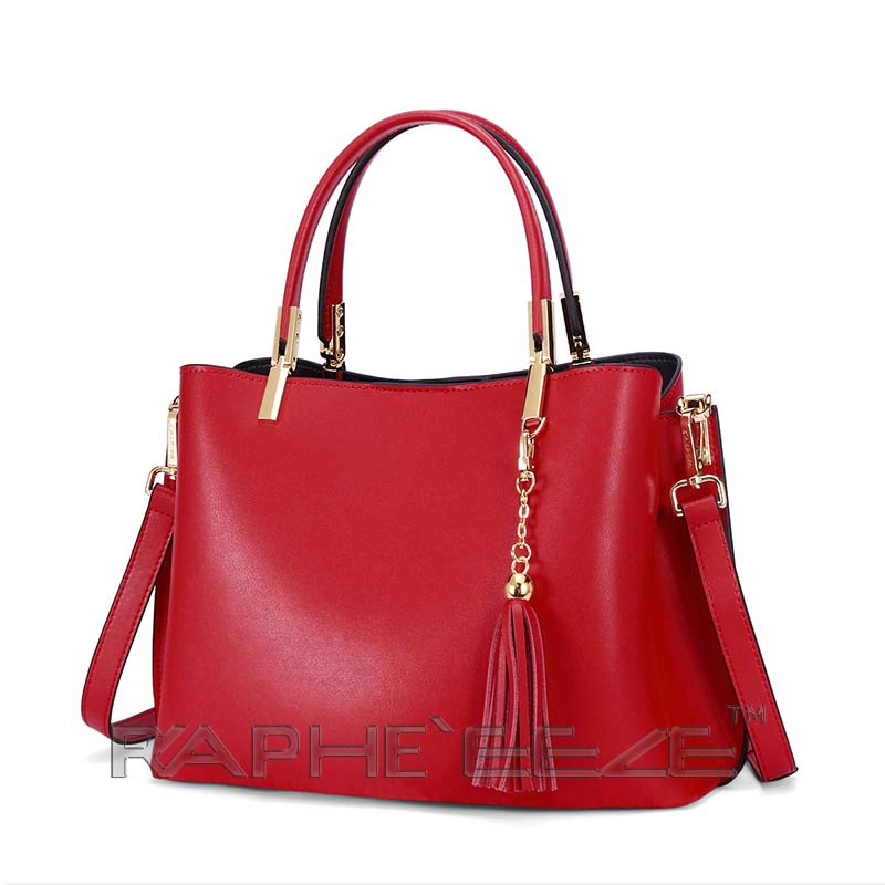 Eye Catching Handbag for Woman Tote Style - Wine Red