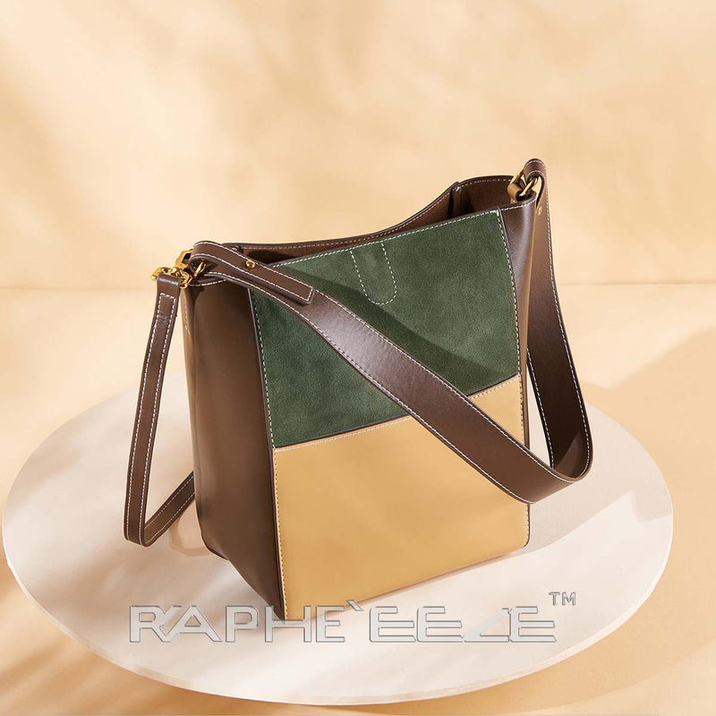 Eye Catching Handbag for Woman - Paste & Cream Color