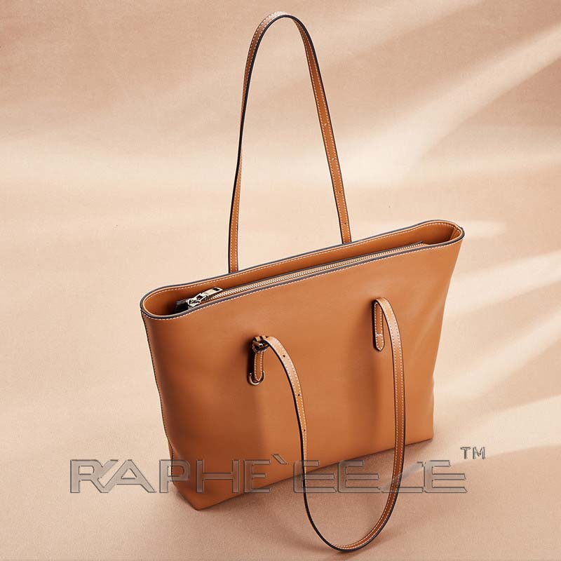 Classic Tote Bag for Woman - Brown Color