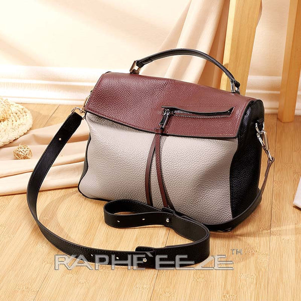 Classic Designed Handbag for Woman - Wine Color