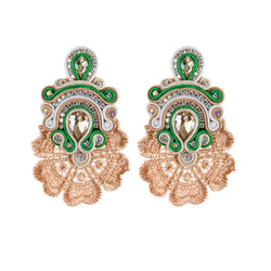 Large Crystal Pendant Soutache Earrings for Female