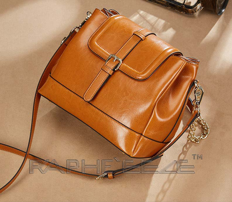Stylish Tweed Bags for Women - Classic Leather Brown Color