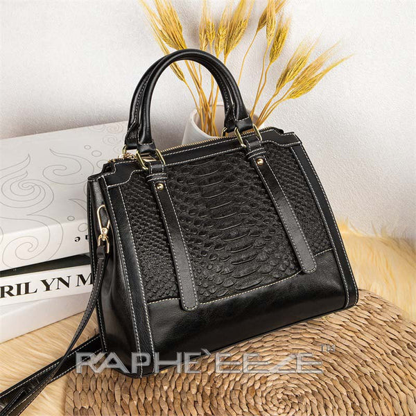 Unique Designed Handbag for Woman Tote Style - Black Color