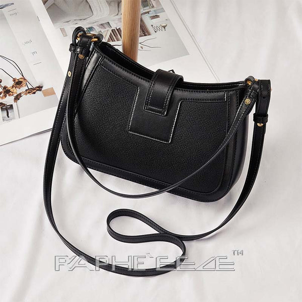 Elegant Designed Tweed Bags for Women - Black Color