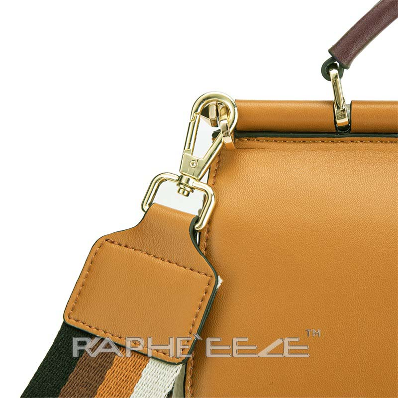 Genuine Cow Leather Italian Tote Bag for Women - Brown