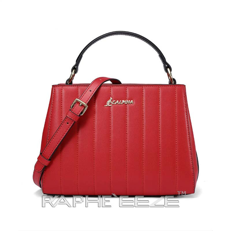 Dramatic Designed Fashionable Tote Handbag for Woman - Wine Red