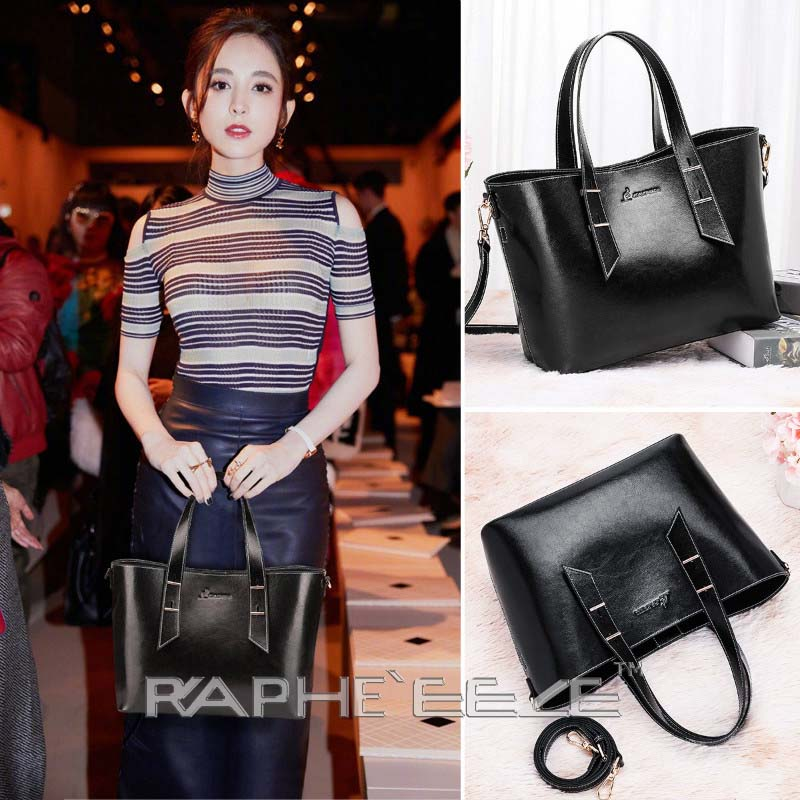 Classic Tote Handbag for Woman - Black Color
