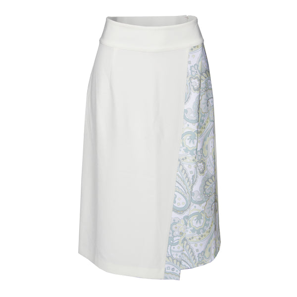 Rapheeze Designed Calf Length Harmony Skirt - White