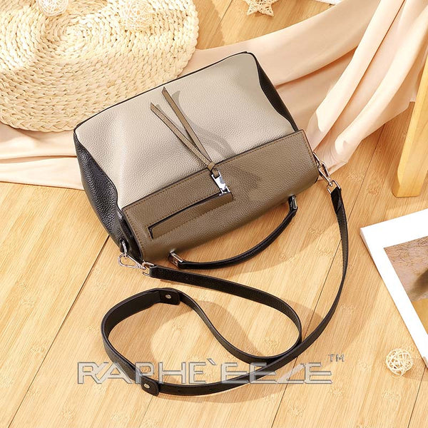 Classic Designed Handbag for Woman - Khaki Color