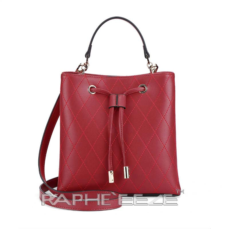 Luxurious Tote Hand Purse with Cross Body for Woman - Red Color