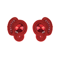 Light Luxury Decorative Charm Handmade Soutache Earring for women-Red Color