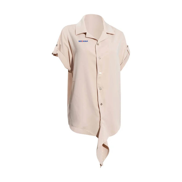 Ladies Irish Elastane Soft Cotton Dress Crop Shirt