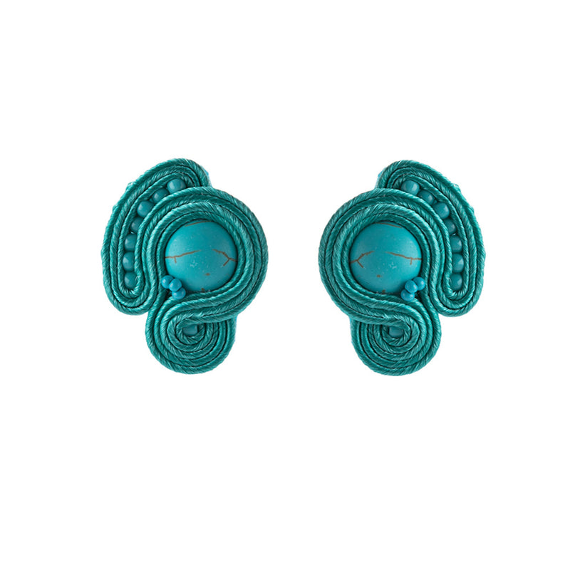 Light Luxury Decorative Charm Handmade Soutache Earring for women-SkyBlue Color