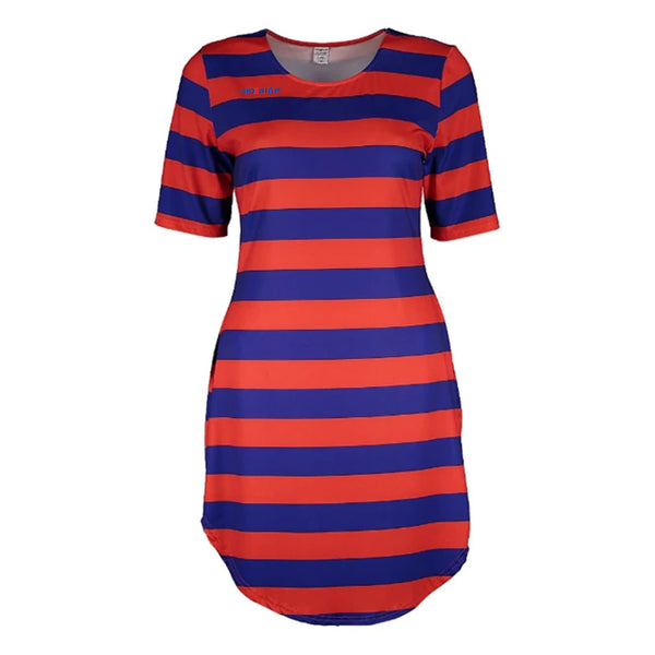 Rapheeze Short Red Stripe PolyElastane Tunic.