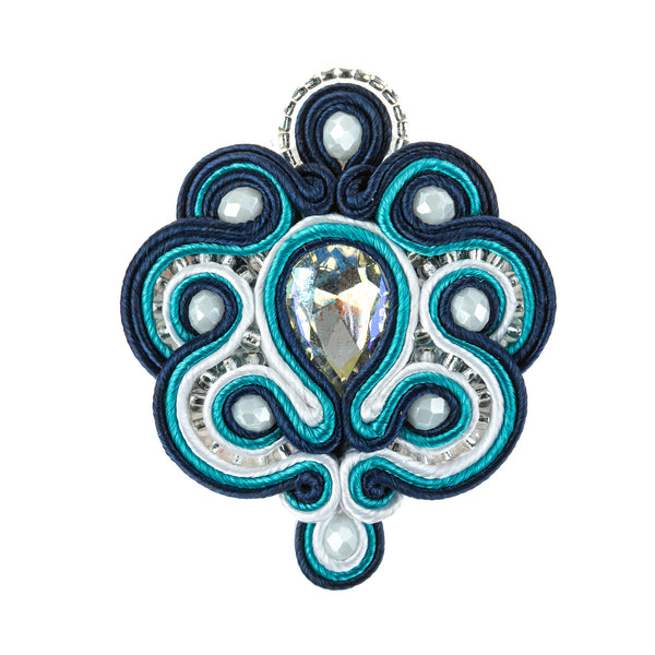 Soutache Brooch Pin Dress Coat Chic for females
